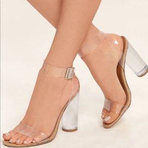 Steve Madden Teena Lucite block heel Size 10